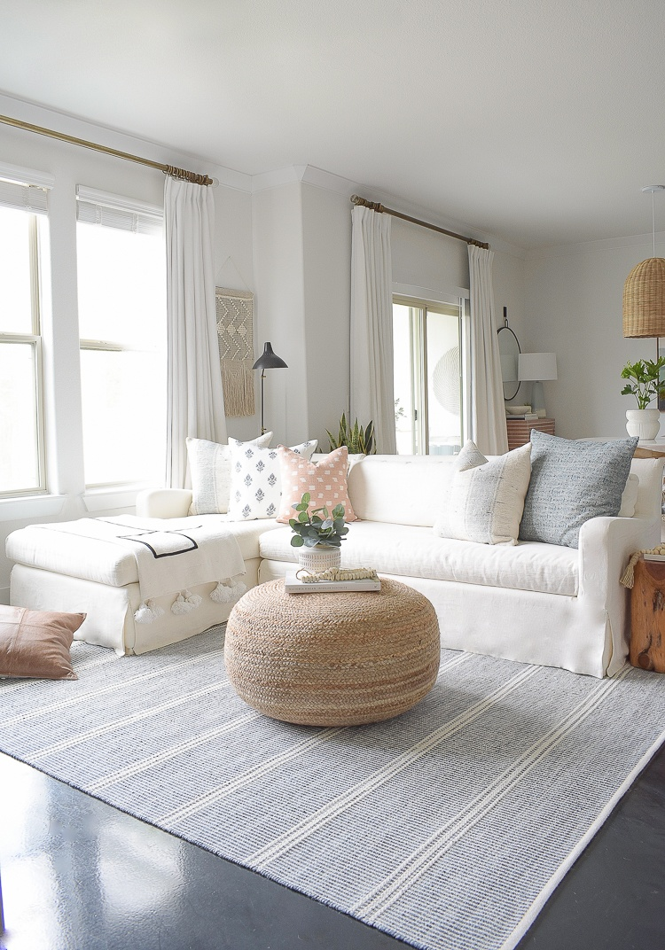 Light & Airy Spring Living Room Tour   ZDesign At Home